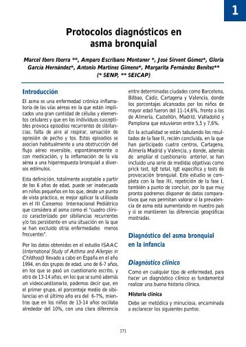 Protocolos diagnósticos en asma bronquial - Asociación Española ...