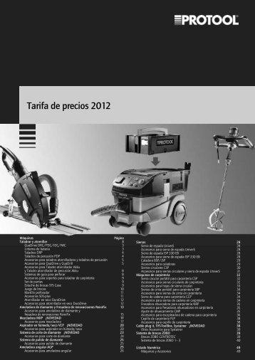 Tarifa de precios 2012 - Festool