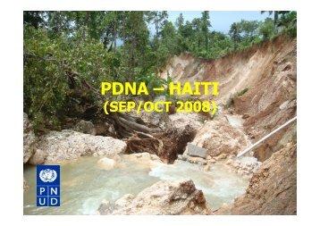 PDNA – HAITI - Red Desastres