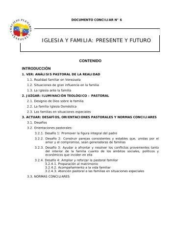 iglesia y familia: presente y futuro - pastoral familiar e infancia