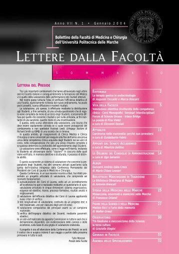 LETTERE 2004 01.pdf - Facoltà di Medicina e Chirurgia - Università ...