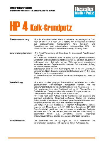 HP 4Kalk-Grundputz - Hessler Kalkwerke GmbH