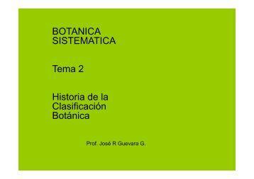 BOTANICA SISTEMATICA Tema 2 Historia de la ... - Web del Profesor