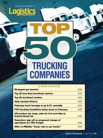 Top 50 Trucking Companies - Logistics Management
