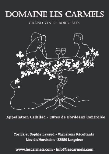 flyer recto - Domaine Les Carmels