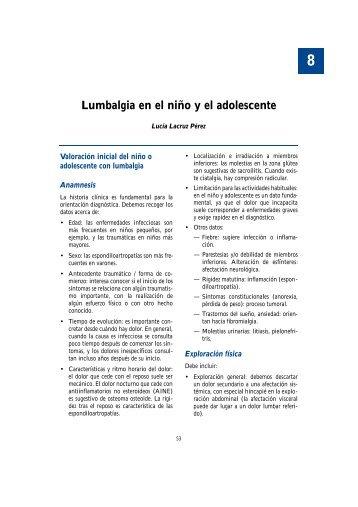 8. Lumbalgia en el niño y el adolescente - Asociación Española de ...