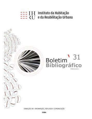 [PDF] Boletim Bibliográfico 31 - Portal da Habitação