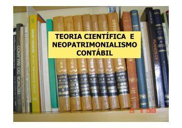 Fundamento do Neopatrimonialismo contábil - Teoria ... - Lopes de sá