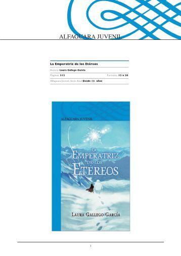Guía de actividades de 'La Emperatriz de los Etéreos' - Alfaguara