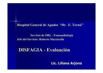 DISFAGIA - Evaluación - Servicio de Otorrinolaringologia del Hopital ...