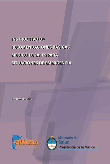 Instructivo de recomendaciones básicas médico-legales para