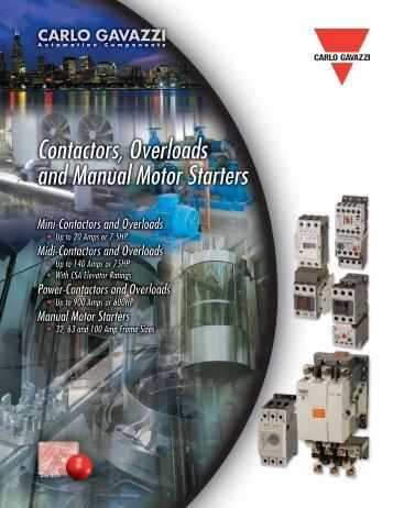 Contactors, Overloads and Manual Motor Starters - Carlo Gavazzi