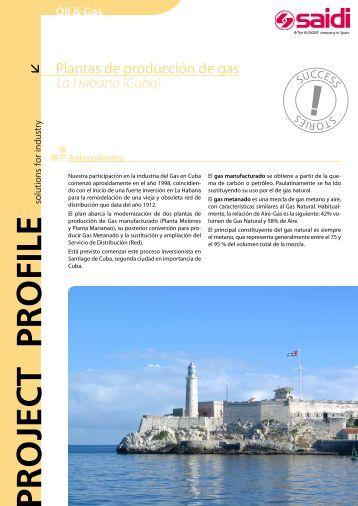 Plantas de producción de gas en La Habana (Cuba) - SAIDI