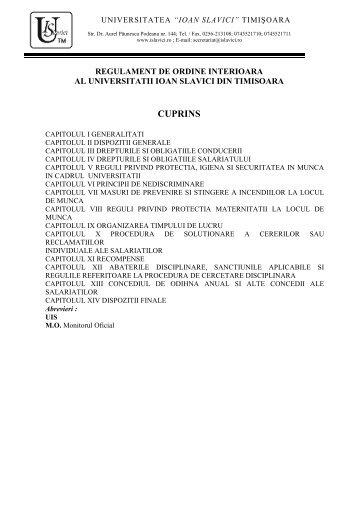 Anexa III.3 Regulament de ordine interoara UIS.pdf - Ioan Slavici