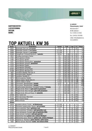 TOP AKTUELL KW 36 - zu Jeddeloh