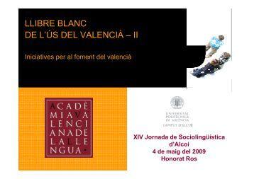 El valencià i