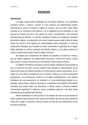 Enuresis - Asociación Española de Pediatría