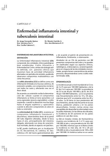 Enfermedad inflamatoria intestinal y tuberculosis intestinal