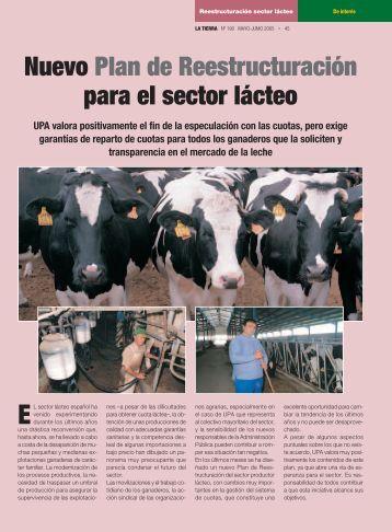 Nuevo Plan de Reestructuración para el sector lácteo - upa.es