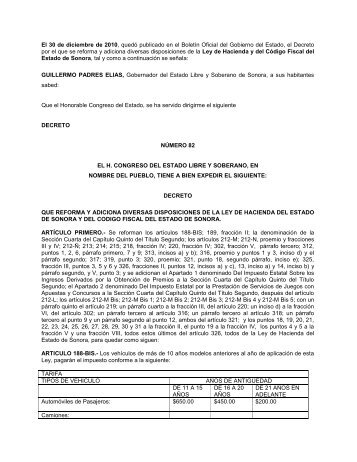 Decreto por el que se reforma y adiciona diversas disposiciones de ...