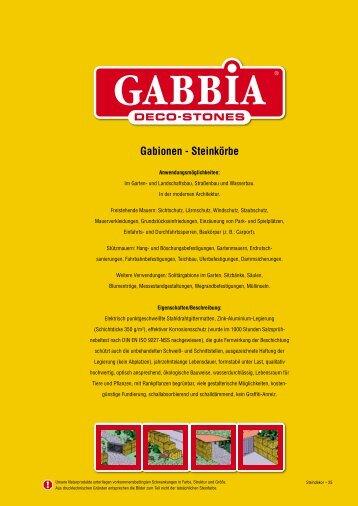 Gabionen - Steinkörbe