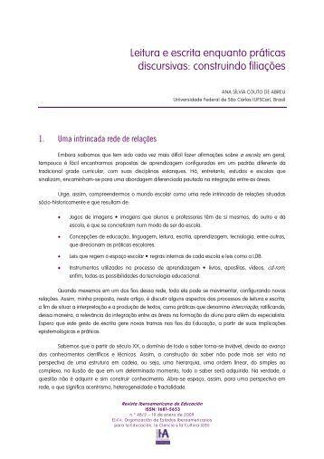 Leitura e escrita enquanto práticas discursivas: construindo filiações