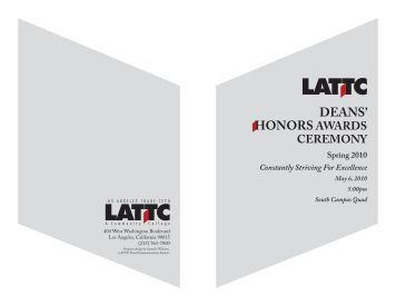 DEANS' HONORSAWARDS - Los Angeles Trade Technical College