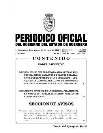 Consultar Archivo Completo - Periódico Oficial - Estado de Guerrero