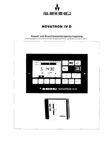 Bedienungsanleitung Regler Novatron IV D (pdf 414 KByte