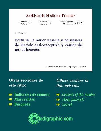 Perfil de la mujer usuaria y no usuaria de método ... - edigraphic.com