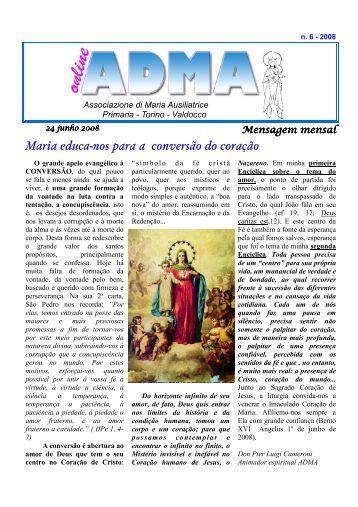 Maria educa-nos para a conversão do coração - Casa Madre ...