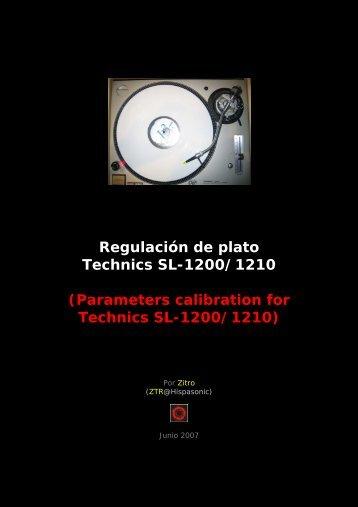 Regulación de plato Technics SL-1200/1210 - Manual para ...
