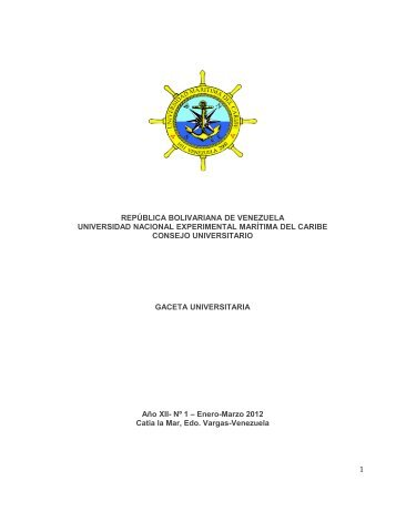 Nº 1 - Enero - Marzo - Universidad Marítima del Caribe