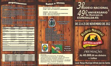 folder III rodeio - Prefeitura Municipal de Esmeralda