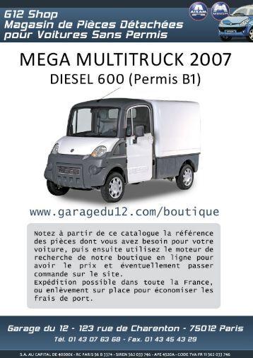 mega multitruck 2 diesel 400 sans permis garage du 12