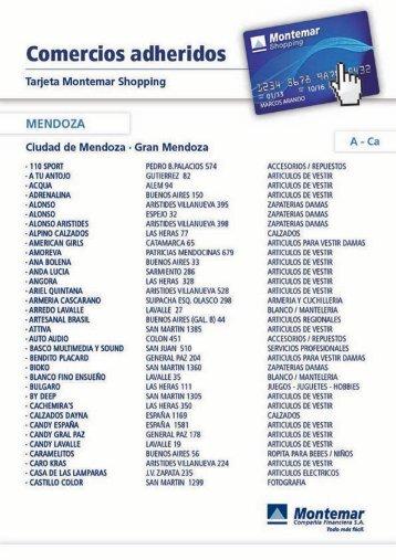 Page 1 Comercios adheridos Tarjeta Montemar Shopping ...