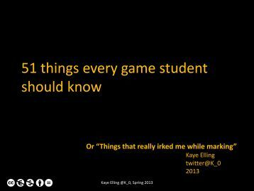 51-things-every-game-student-should-know