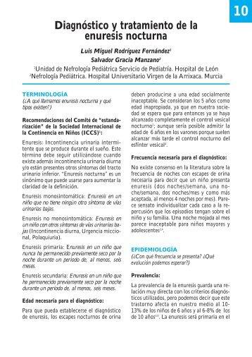 Diagnóstico y tratamiento de la enuresis nocturna - Asociación ...