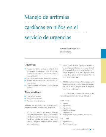 Manejo de arritmias servicio de urgencias cardíacas en niños en el