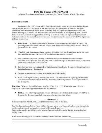 I need help on a World War 1 essay (DBQ)?