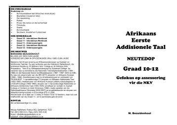 Afrikaans Eerste Addisionele Taal Graad 12