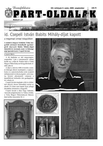 id. Csepeli István Babits Mihály-díjat kapott - Part-Oldalak Kulturális ...