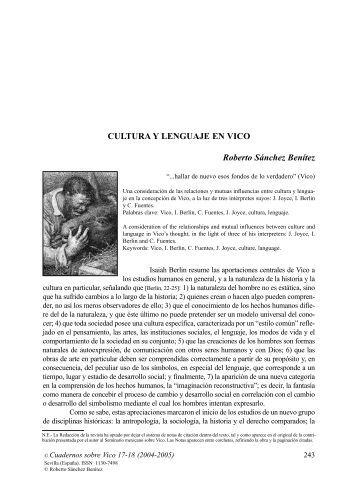 Cultura y lenguaje en Vico