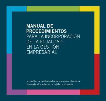 manual de procedimientos para la incorporación de la igualdad en ...