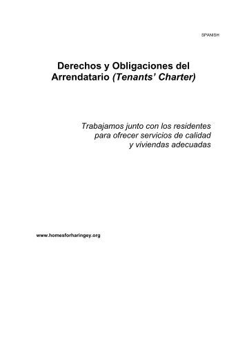 Derechos y Obligaciones del Arrendatario (Tenants' Charter)