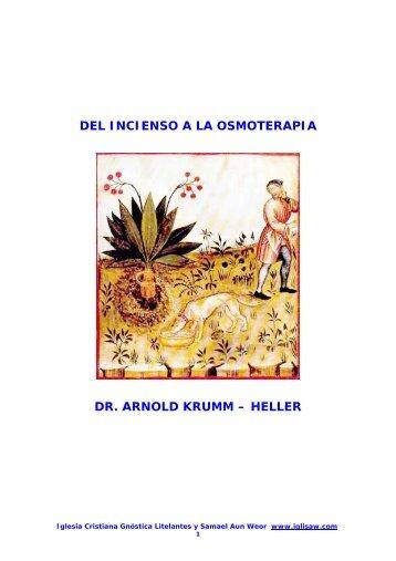del incienso a la osmoterapia - Iglesia Cristiana Gnóstica Litelantes ...