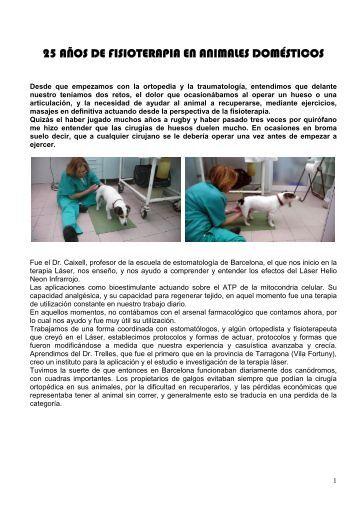 25 Años de fisioterapia en animales domésticos - Clínica Veterinaria ...