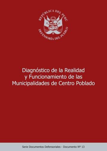 Perú-Reporte-Diagnóstico de la Realidad y Funcionamiento