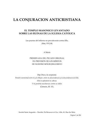 LA CONJURACION ANTICRISTIANA - AMOR DE LA VERDAD