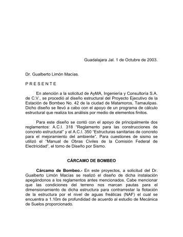 REVISION ESTRUCTURAL DE LA CASA HABITACION UBICADA ...